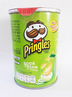 Pringles SOUR CREAM + ONION Flavored Potato Chip BURSTING WITH FLAVOUR Snack 47g