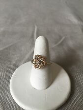 Diamond Cluster Ring Size 5 14K Yellow Gold