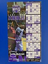 1997-98 SACRAMENTO KINGS MAGNET SCHEDULE SKED - US BANK