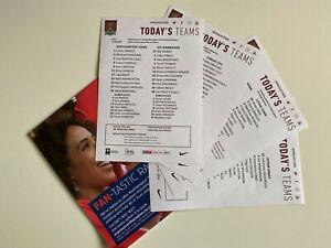 NORTHAMPTON TOWN HOME TEAMSHEETS | 2020/2021 | NO PROGRAMMES PRINTED - MULTILIST