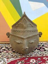 Old Original Rare Goddess Devi Durga Maa Face Shape Brass Pot Navaratri Special