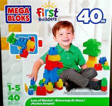 MEGA Bloks - 8174-First Builders-lots de blocs! 40 pieces ** cadeau **
