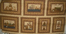 Red Rooster The Woodland Quilter Panel QUILT FABRIC Fox, Bear, Moose, Racoon,etc