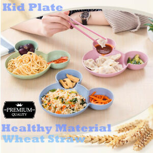 Kid Lunch Bowel Dinner Plate Food Bento Tray Baby Food Fruit Baby Plates Bowels