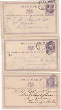 # 1873/7 3 POSTAL STATIONERY CARDS RYDE ISLE OF WIGHT DUPLEX TO T R FOTHERGILL