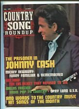 Country Song Roundup Dec 1971  Very Good Johnny Cash Mickey Newbury  MBX86