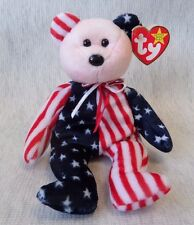 """VINTAGE BEANIE BABY RARE PINK FACE BEAR """"SPANGLE""""  MINT CONDITION  """"RETIRED"""""""