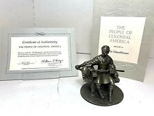 1975 Franklin Mint 'Pewter Figurines - The Glassblower - People of Colonial'