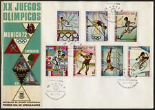 C08 Equatorial Guinea Oversized FDC 1972 Summer Olympics Munich Set of 7