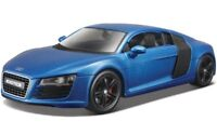 AUDI R8 1:24 Scale Diecast Toy Car Model Miniature Supercar Blue
