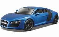 AUDI R8 1:24 Scale Diecast Toy Car Model Miniature Supercar Blue