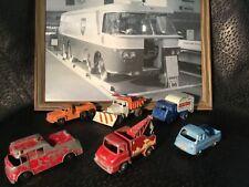 Matchbox Lesney lot Morris J2 pickup, tippax, rottinoff,merryweather, dump truck