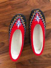 Polish folklore felt women's casual shoes size 7