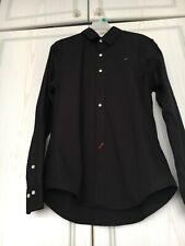 Men's TOMMY HILFIGER Shirt Slim Fit Long Sleeve Black Size XXL