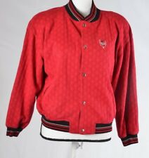 Guess Country Club Jacket Womens Emblem Red Button up Varsity Vintage SP (Q)