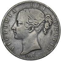 1844 CROWN (CINQUEFOIL STOPS) - VICTORIA BRITISH SILVER COIN