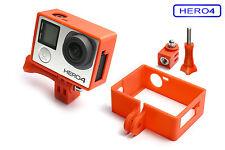 Frame + Tripod Mount f. GoPro HERO 4 Black Rahmen Zubehör Stativ Adapter Red