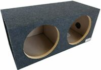 """NEW MDF DUAL 10"""" Subwoofer Cabinet Box.Sealed Bass Speaker Enclosure.10"""" subs10s"""