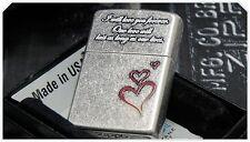 Japanese Zippo Lighter - Japan - South Korea - I Will Love You Forever - Heart