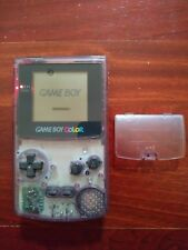 Gameboy Color Clear Atomic Purple Nintendo GBC System with Battery Cover TESTED