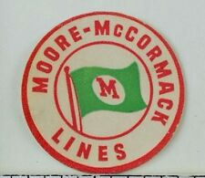 Moore-McCormack Lines Flag Vintage Poster Stamp Fabulous! F94