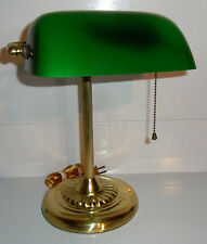 Banker's LAMP Vintage Green Glass Traditional Desk Table Office Study Lighting