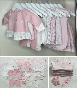 12x BABY GIRLS SUMMER CLOTHES BUNDLE – NEWBORN - USED - EXCELLENT CONDITION