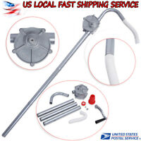Manual Hand Crank Rotary Pump Oil Fuel Transfer Suctin Drum Barrel 55 Gallon