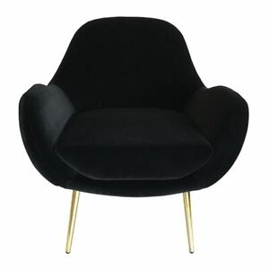 Laura Black Occasional Accent Chair 73x75x87cm By J.Elliot **NEW**