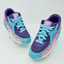 Nike Air Max 90 Premium Mesh PS Kids Pink Blue Shoes Size US 3Y 724876-600