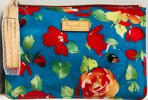 *Dooney & Bourke*Blue Cabbage Rose*Carrington Pouch 18363J S176