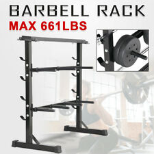 3 Tier 300kg Gym Weight Plate & Bar Rack Storage Stand/Holder Dumbbell/Barbell
