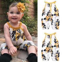 Newborn Baby Kids Boys Girls Infant Romper Jumpsuit Bodysuit Cotton Outfit Skirt