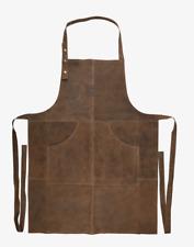 Grillschürze Büffelleder BBQ Lederschürze Werkzeugschürze Zapferschürze Braun