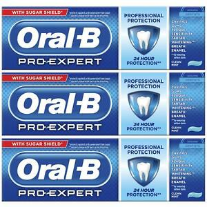 3 Oral-B Pro Expert Professional Protection Toothpaste Whitening Clean Mint 75ml