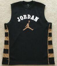 NIKE AIR JORDAN 23 Basketball  Jersey Size LARGE Black w/gold side