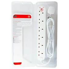 Masterplug Srg62n 13amp 6 Socket 2m Surge Protected Extension Lead - White