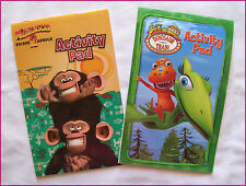 DINOSAUR TRAIN & MADAGASCAR - 2 x ACTIVITY & COLOUR IN BOOKS Colouring Pads  NEW