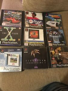 Playstation 1 PS1 - 9x Game Bundle. Tomb Raider, Ridge Racer, X Files, etc.