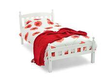 "Florence White Single Bed Frame Bedstead & 8"" Deep Havana Mattress NEW"