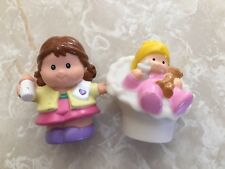 Fisher Price Little People Baby Mommy Cradle Bassinet Bottle Girl Lot