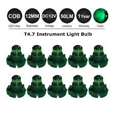 10x T4.7 NGO LED Car Dashboard Panel Gauge air condition Light Bulb GREEN 12V DC