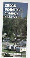Cedar Point Amusement Park 1985  Camper Village  - fold out Brochure