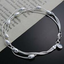 Free shipping  Silver Jewelry Pendant Bracelet Chain Jewelry H236