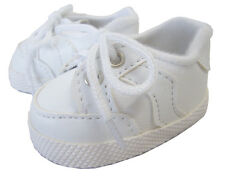 "White Gym Sneakers Shoes made for 18"" American Girl Doll Clothes Accessories"