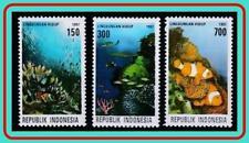 INDONESIA 1997 FISH & CORALS SC#1711-13 MNH MARINE LIFE (LG-BX)