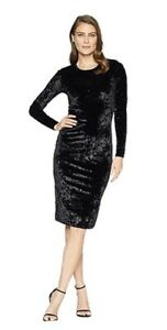 Michael Kors Women's Velvet Crew Neck Party Dress Size SMALL New With Tags