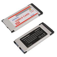 Super-Speed Express Card ExpressCard 34mm 5Gbps 2 Ports 2Ports USB 3.0 Card