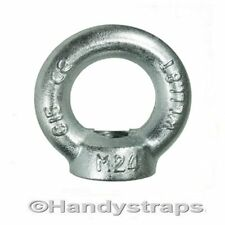 10mm 0.23 Ton Bright Zinc Plated Lifting Eye Nuts Towing Nut