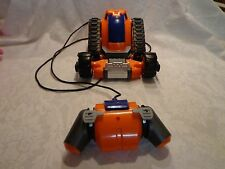 "2004 Uncle Milton Remote control Tractor Orange Car Vehicle 9"" Heavy Duty Toy"